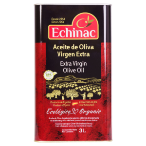 Aceite de Oliva Virgen Extra Ecológico 3 Litros Lata (4 uds x 3 Litros)