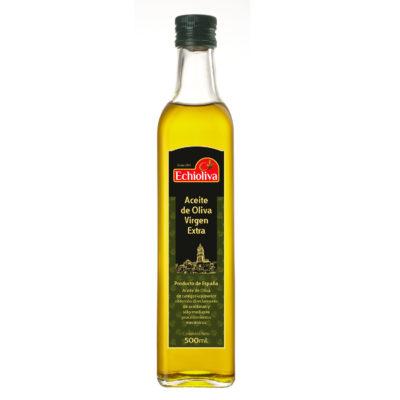 Aove - Aceite de Oliva Virgen Extra Echioliva de 500 ml cristal blanco de Aceites Echinac