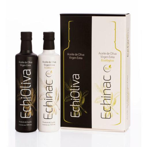 Estuche Premium de aceite de Oliva Virgen Extra y AOVE Ecológico Echinac