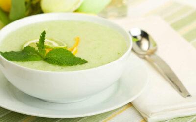 Sopa fría o gazpacho de melón
